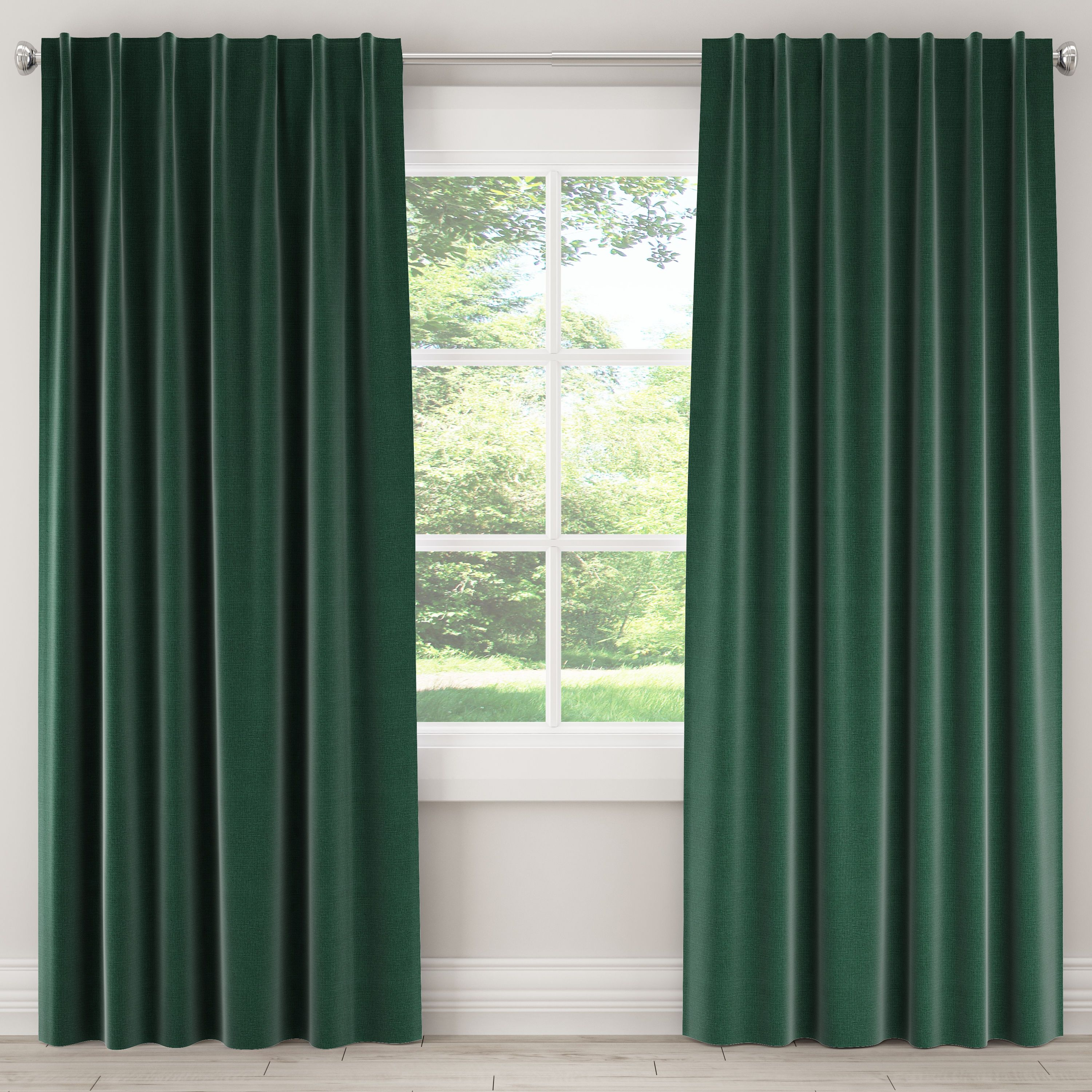 This Is One Window Covering You Can T Live Without A Pretty Pop Color Curtain Panel Adds Gorgeous Tex In 2020 Skyline Furniture Linen Blackout Curtains Green Curtains