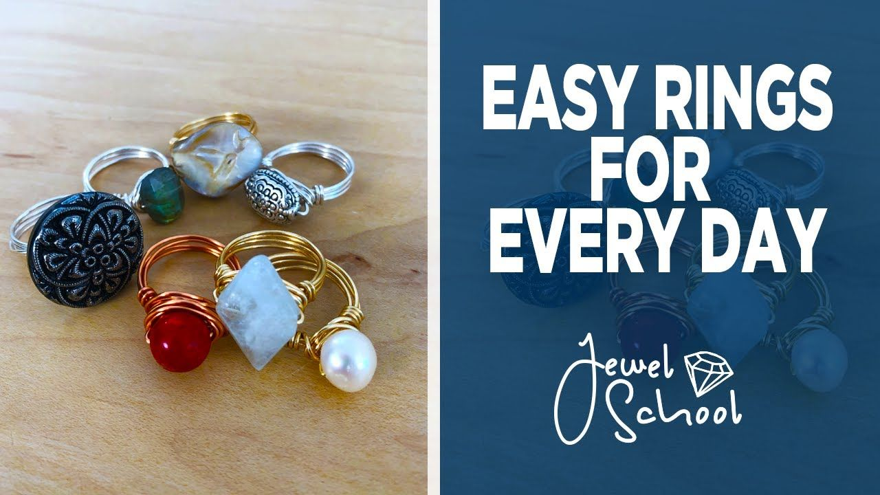 Easy Rings For Every Day Jewelry 101 Youtube How To Make Rings Bead Work Jewelry Diy Wire Jewelry