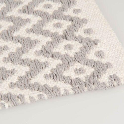 Teppich aus Baumwolle, grau, 60 x 90cm, TAVIRA