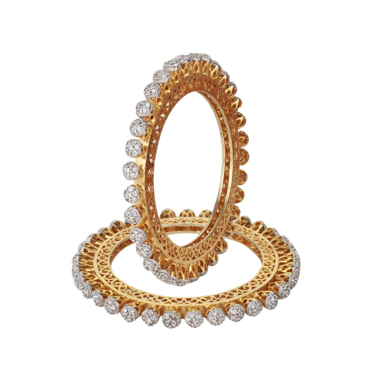 Dilan jewels power collection american diamonds studded gold plated