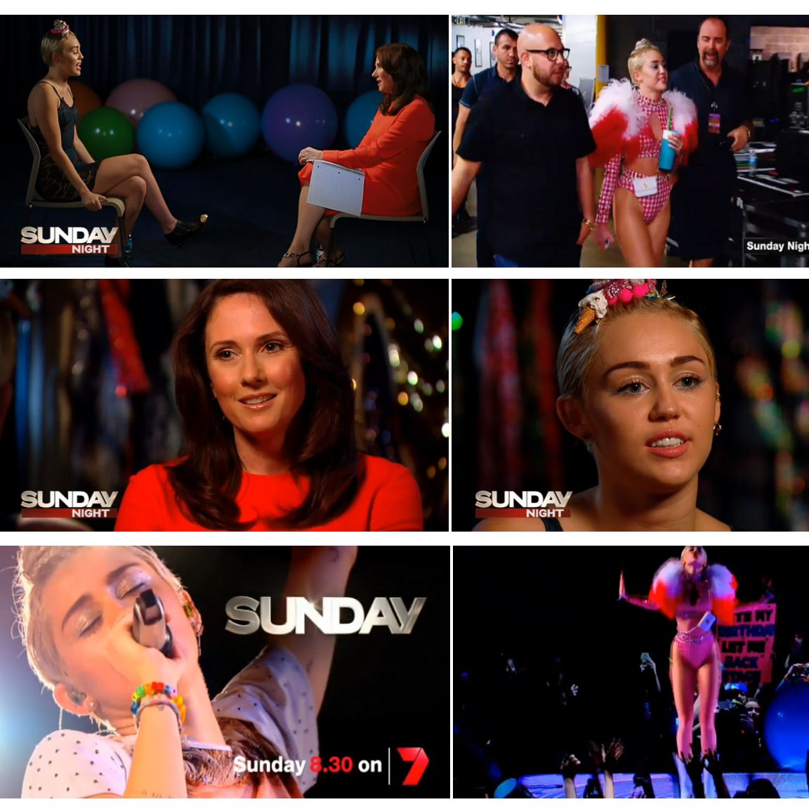"Miley Cyrus Interview On ""Sunday Night"" Tv Show On The"