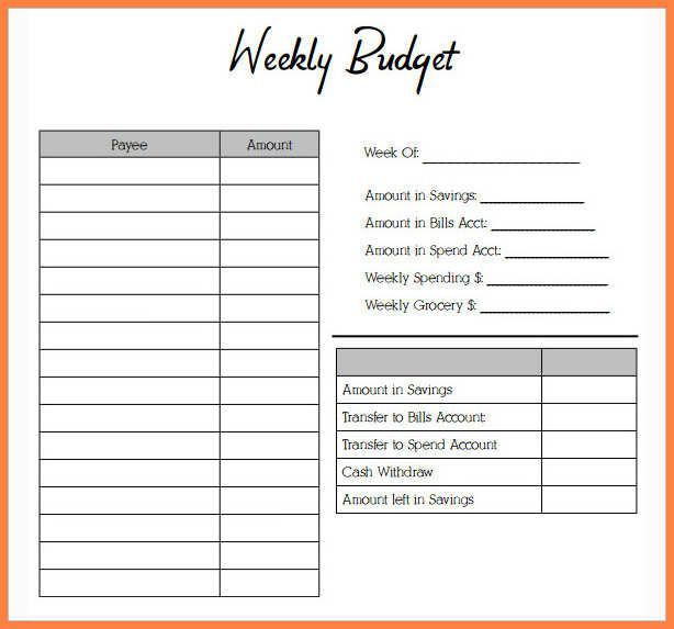 Weekly Budget Worksheet Free   emmamcintyrephotography - Pricing Spreadsheet Template
