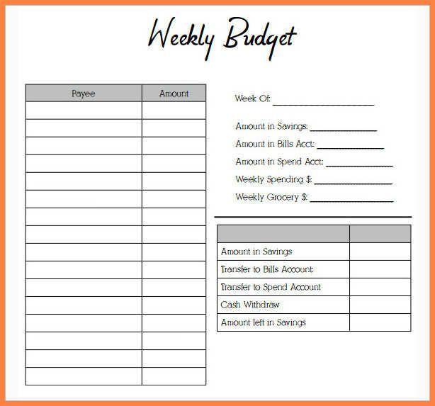 Weekly Budget Worksheet Free   emmamcintyrephotography - template budget spreadsheet