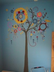 Whimsical Tree Mural Project