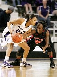 Texas Tech at K-State. This was an epic collapse by the Lady Cats. :(