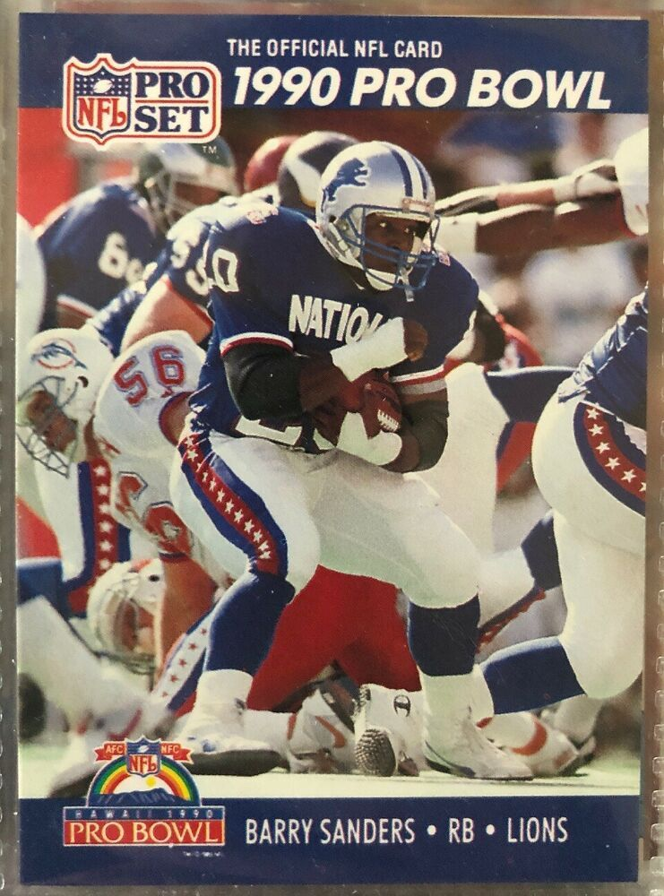 huge discount d623e c3330 1990 Pro Set Pro Bowl #413. Barry Sanders. Detroit Lions ...