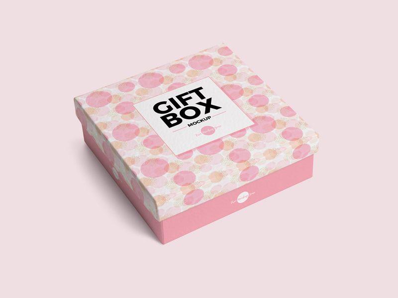 Download Free Gift Box Mockup Psd 2018 Box Mockup Free Packaging Mockup Free Mockup