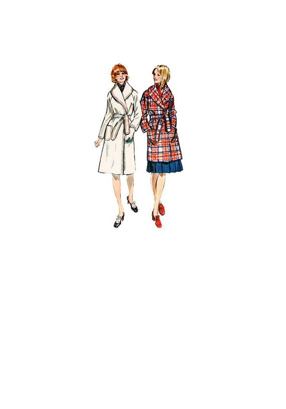 Simplicity 9815 Sewing Pattern Retro 70s Classic Style Winter Coat ...