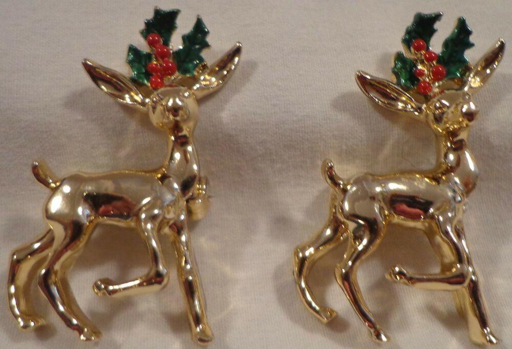 Christmas Pearl Brooch Deer Snowman Pendant Jewelry Rhinestone Brooches Women