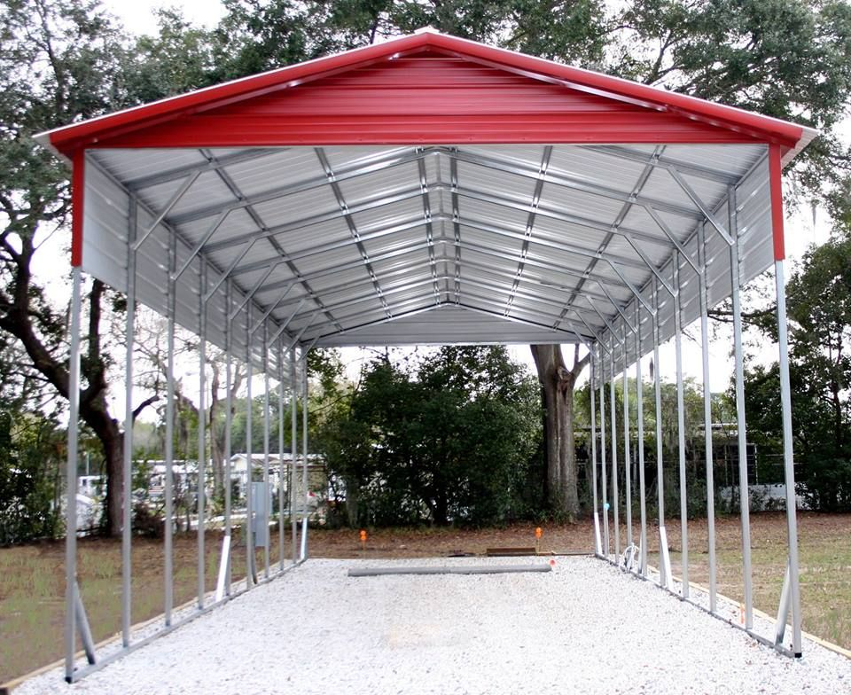 12x45x12 Aframe RV cover vertical roof extra panels