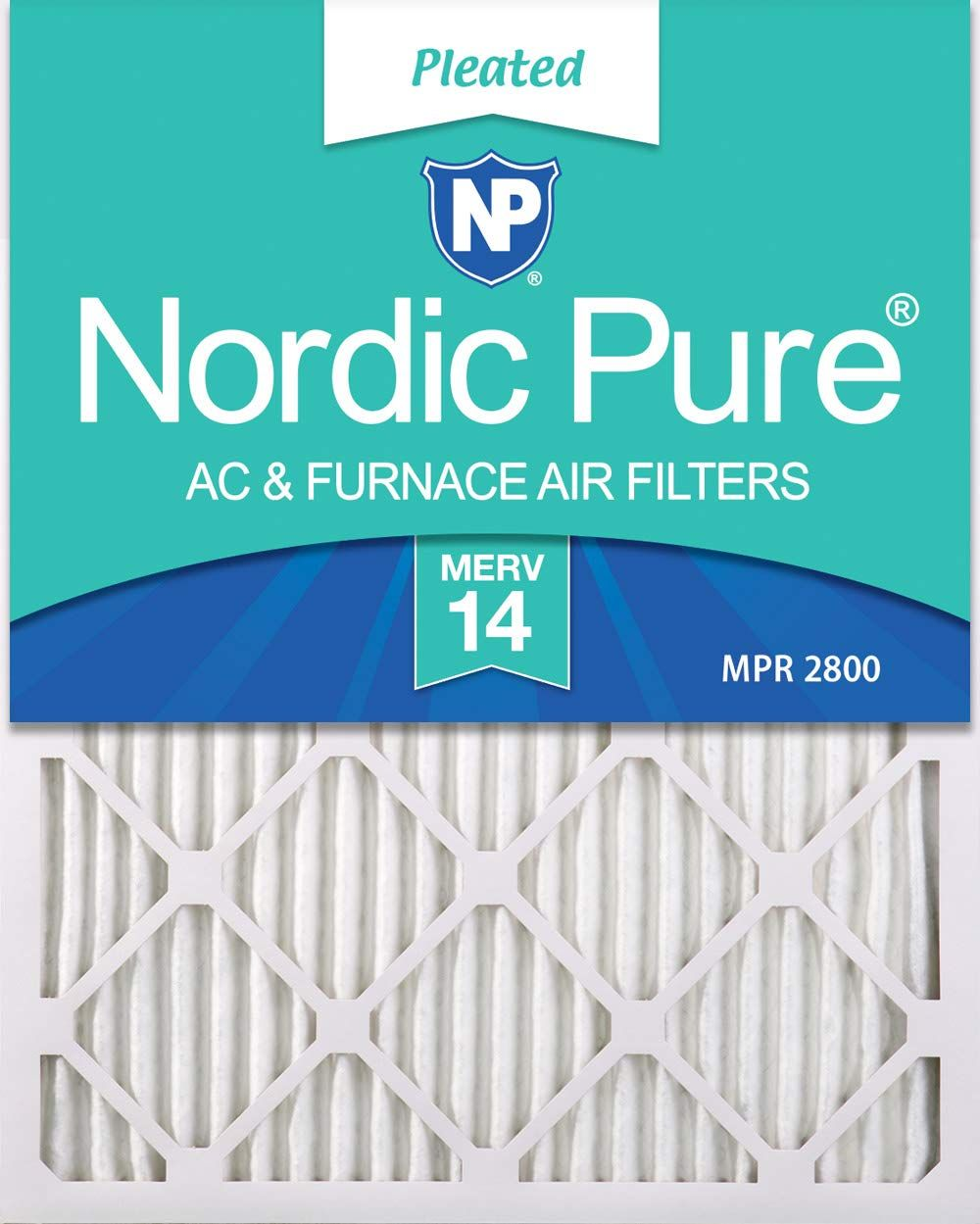 Nordic Pure 18x20x1 Merv 14 Pleated Ac Furnace Air Filters 18x20x1m14 2 2 Piece Ad Merv Spon Nordi With Images Ac Furnace Electrostatic Air Filter Furnace Filters