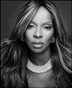 Mary J Blige   black & white portraiture   Female soul