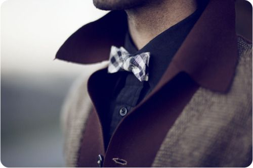 Layering clothes + bow tie = Classiness