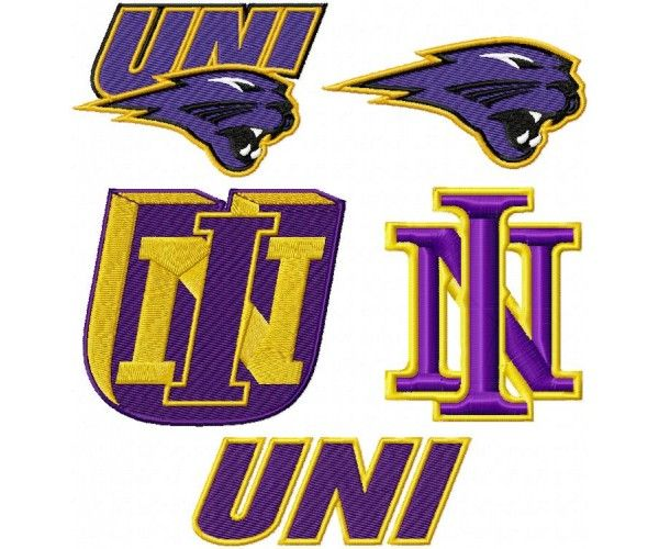 university of northern iowa panthers logo machine embroidery design for instant download - Bakers Gonna Bake Kitchen Redwork Embroidery Designs