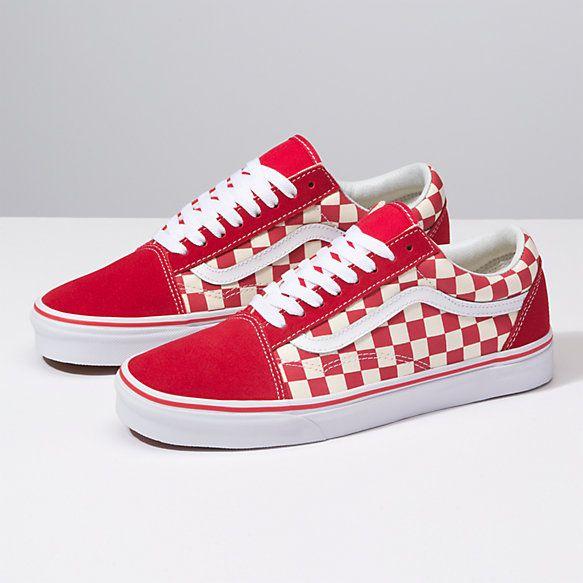 Vans checkerboard, Red checkered vans