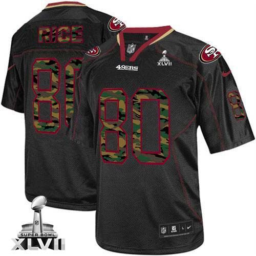 76777b82bcb Bengals Anthony Munoz 78 jersey Nike 49ers #80 Jerry Rice Black Super Bowl  XLVII Men's