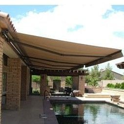 Aleko 13 Ft W X 10 Ft D Rectangular Patio Awning Outdoor Awnings Backyard Patio Patio Awning