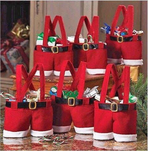 Chrismas Candy Boxes 3 Dulceros De Navidad Bolsas De Navidad