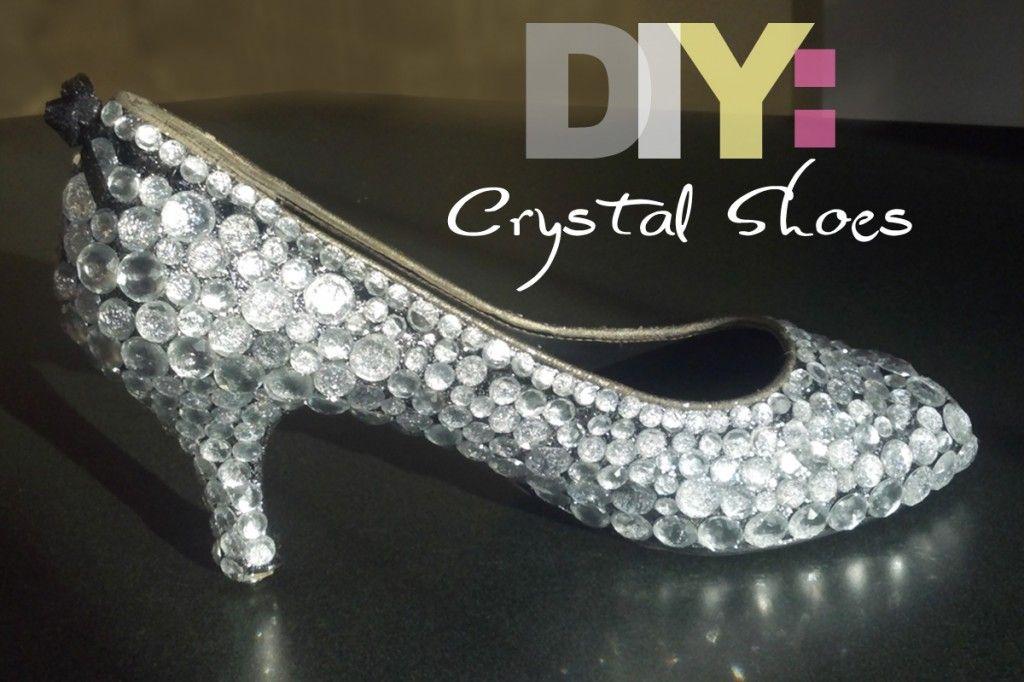 DIY crystal BLING shoes!  I love it!