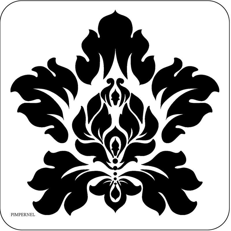 simple damask stencil - 800×800