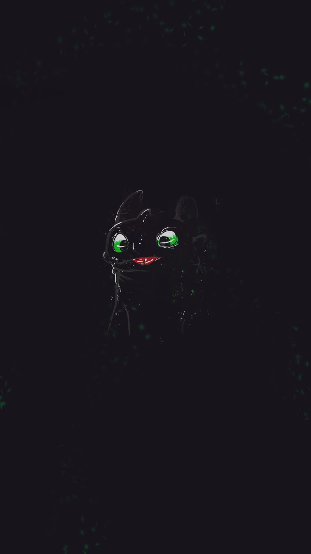 Toothless (Night Fury) - Cellphone wallpaper 1080x1920 https://br.pinterest