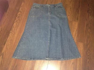 LADIES CATO LONG MODEST ALINE JEAN DENIM SKIRT SIZE 16W