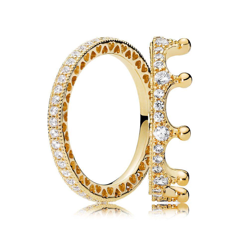 c7ba7873e6b71 Pandora Crown Ring in gold | Jewelry in 2019 | Pandora rose gold ...