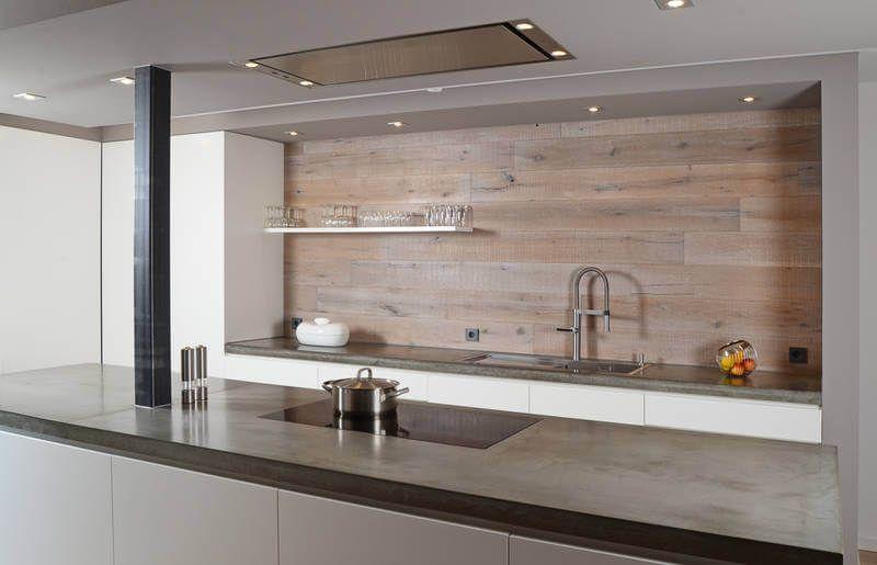 Innenarchitektur    Innenausbau - Küche Fronten weiß, Rückwand + - echtholz arbeitsplatte küche