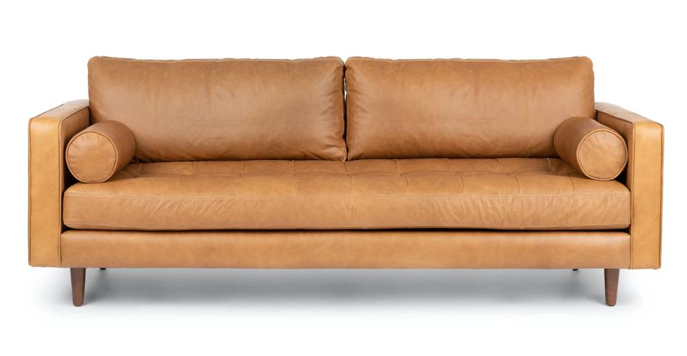 Sven Charme Tan Sofa In 2020 Tan Sofa Tan Leather Sofas Scandinavian Furniture
