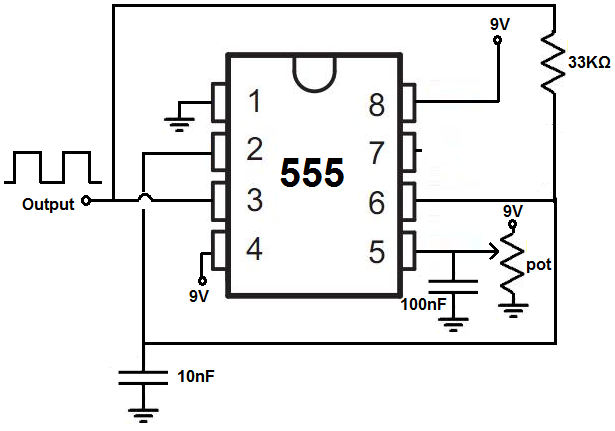 Voltage Controlled Oscillator Vco With A 555 Timer Chip Voltage Controlled Oscillator Timer Synthesizer Diy