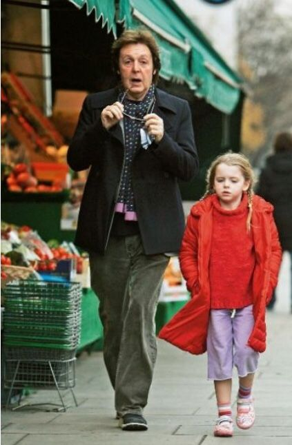 Paul McCartney With His Youngest Daughter Beatrice