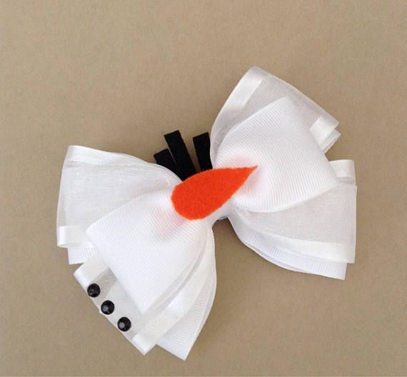 Olaf Inspired Hair Bow. The Bow Measure Approx. 4.5 Inches