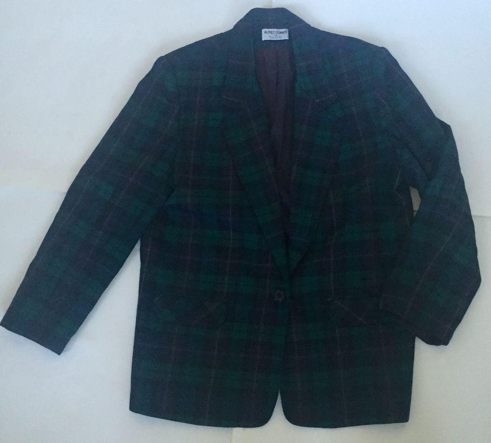 Red Vintage 14 Plaid Tartan Blazer Preppy Jacket Usa Green Black fOfCRqZw