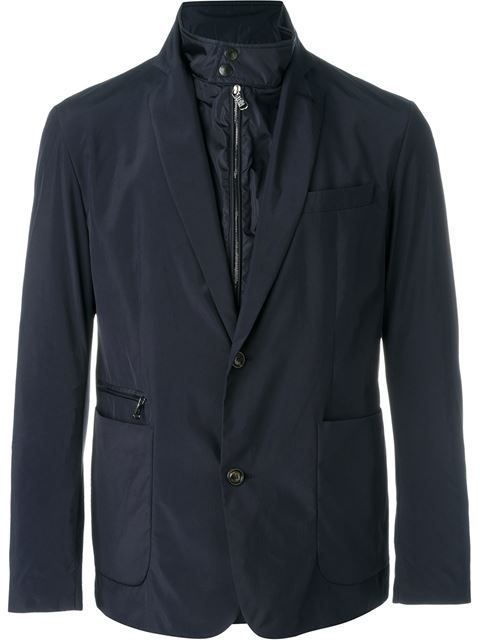 MONCLER Soft Shell Layered Blazer. #moncler #cloth #blazer