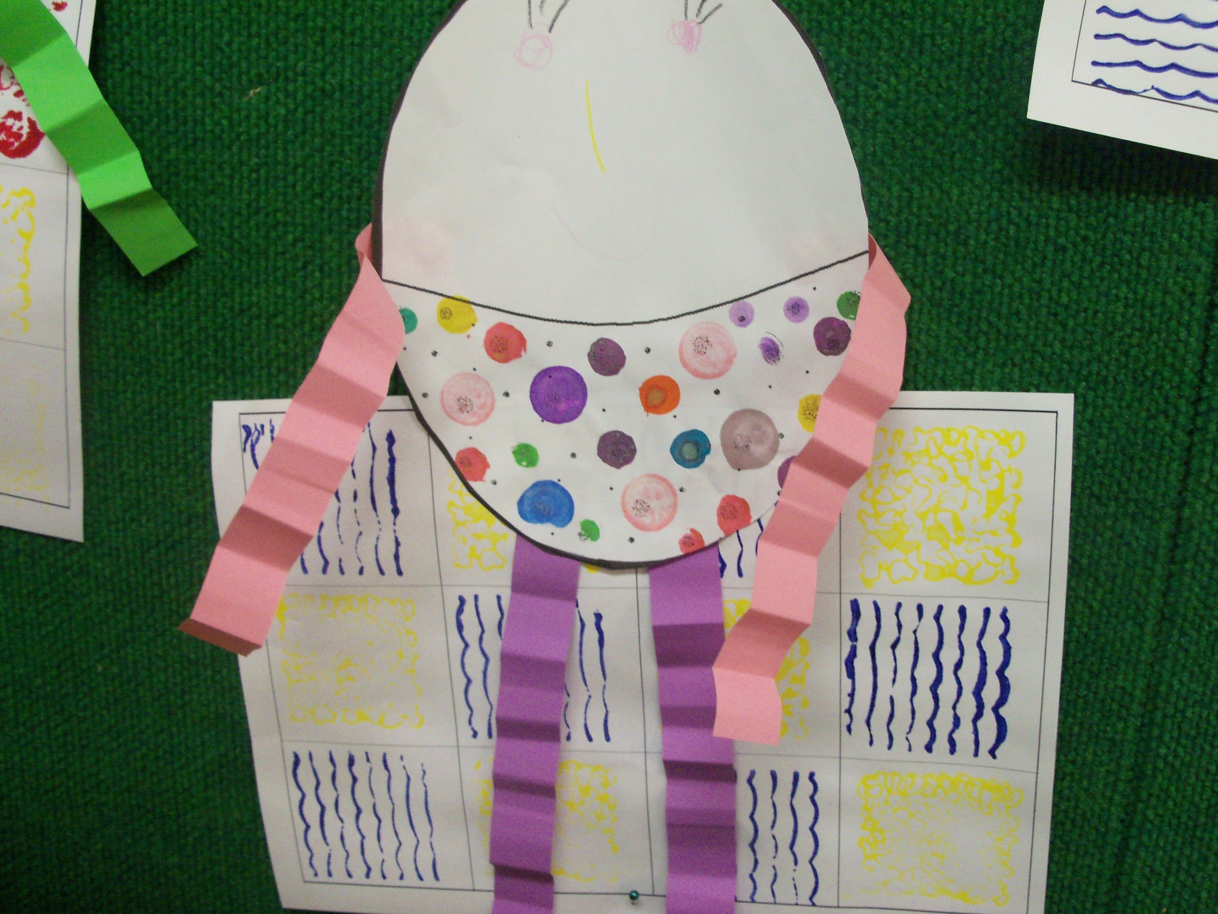 Make The Wall By Patterning Then Create Your Humpty