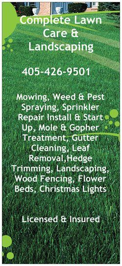 Complete Lawn Care Lawn Care Business Lawn Care Tips Lawn