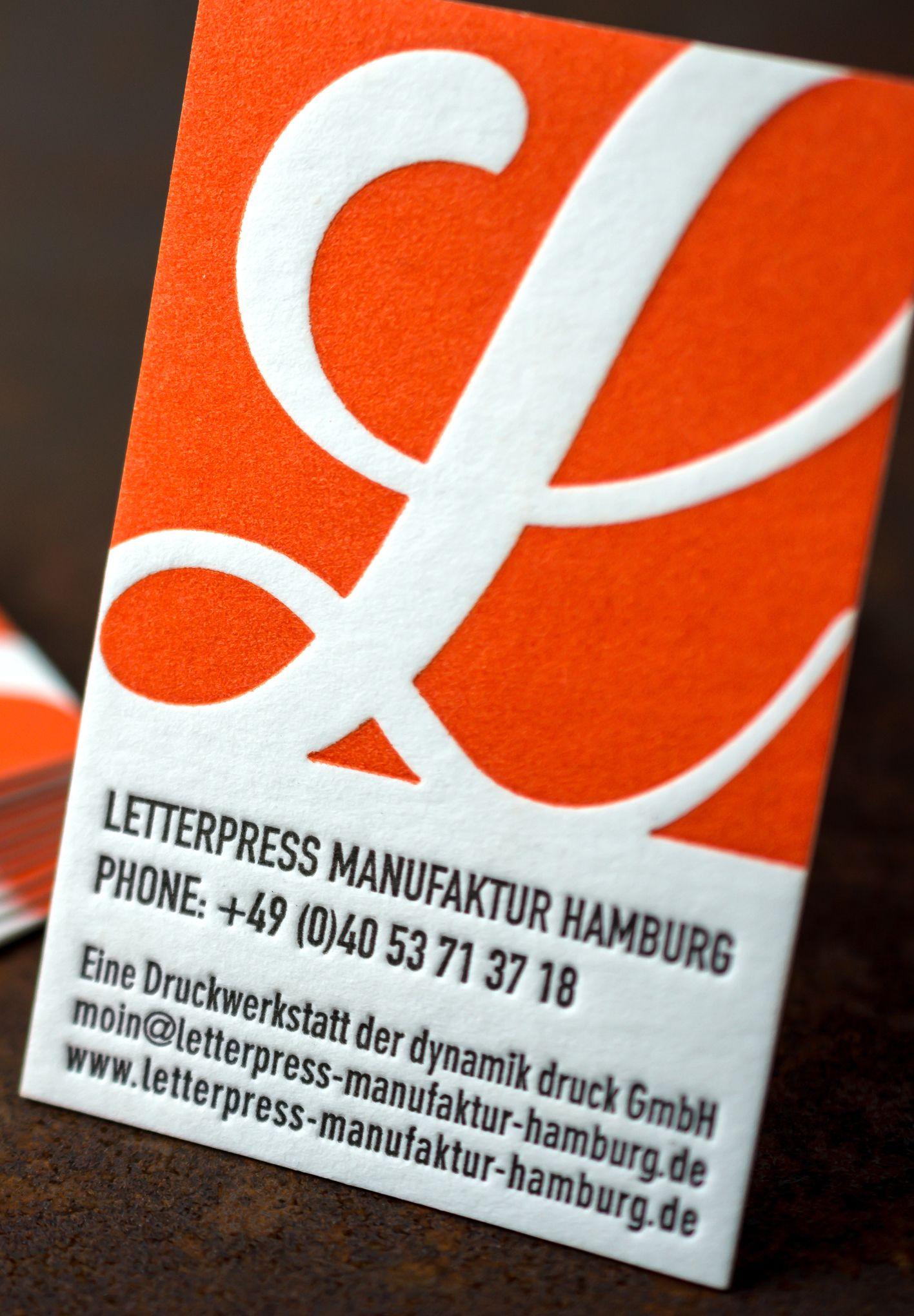 Business Card Letterpress Manufaktur Hamburg Colour