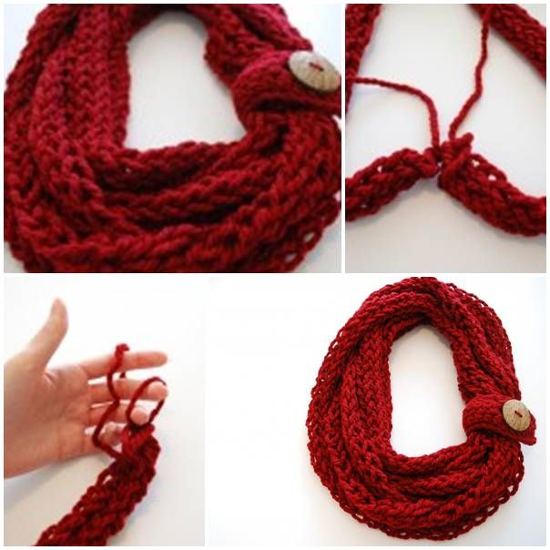 DIY Finger Knit Infinity Scarf | UsefulDIY.com Follow Us on Facebook ...