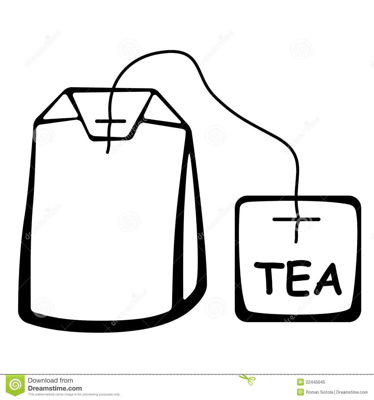 Tea Bag Outline Clipart