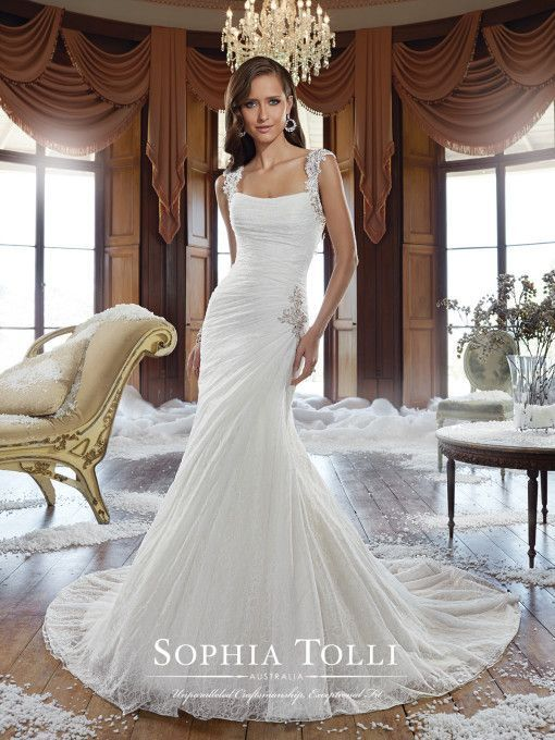 Sophia Tolli Lace Wedding Dress With
