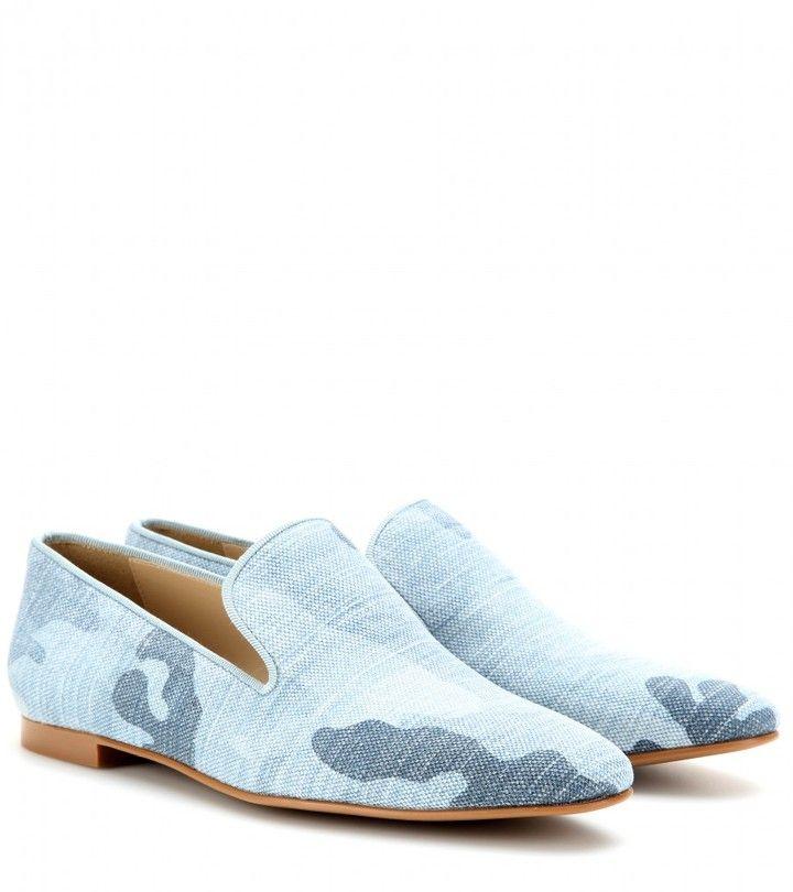 Stella McCartney Camouflage print slipper-style loafers on shopstyle.com