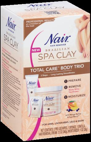 Nair spa clay body trio