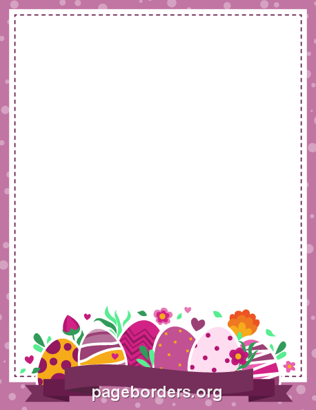 Printable Purple Easter Border. Use The Border In Microsoft Word Or Other  Programs For Creating