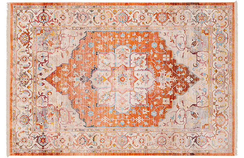 Cassiopeia Rug Burnt Orange Traditional Rugs Rugs Modern Color Palette