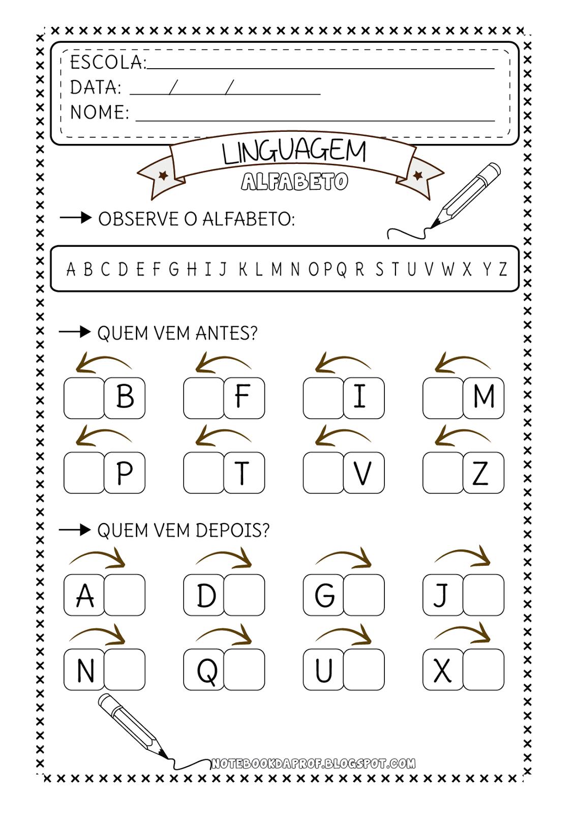 Amado Atividades Alfabeto | Atividades escolares, Educação infantil e  HT24