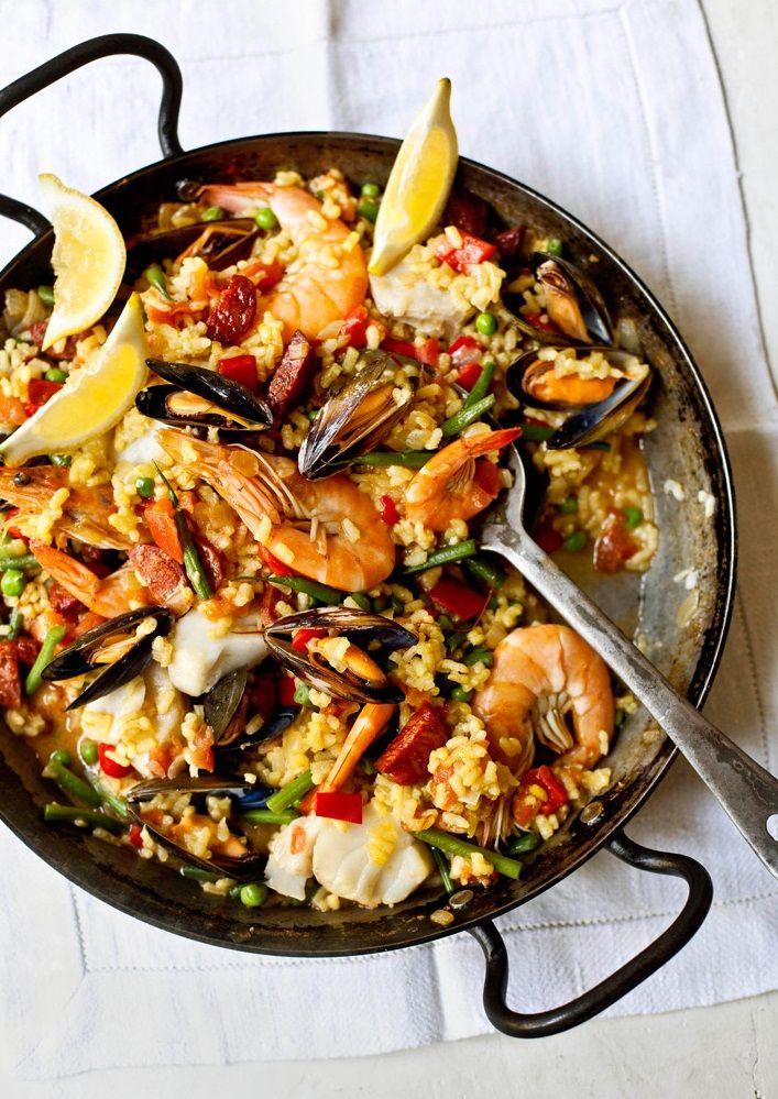 Easy Seafood Paella Recipe Recipes Seafood Recipes