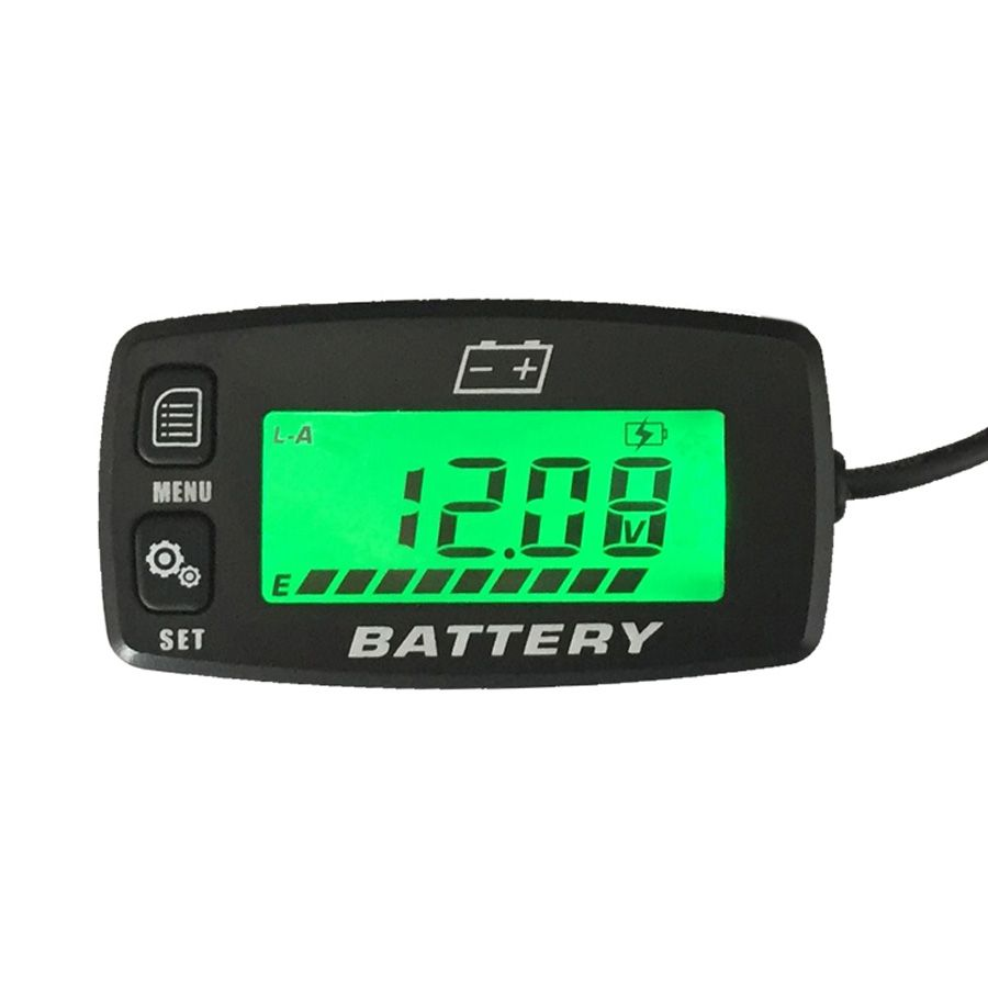 Free Shipping BACKLIGHT Lead Acid Storage Battery GEL AGM Voltmeter Indicator FOR Motorcycle ATV Tractor