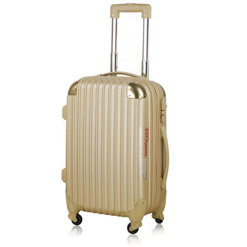 Ambassador® Scallop Expandable Suitcase 20'' Carry On Luggage Matte Champagne #Ambassador #Luggage #Gold #Champage #Designer