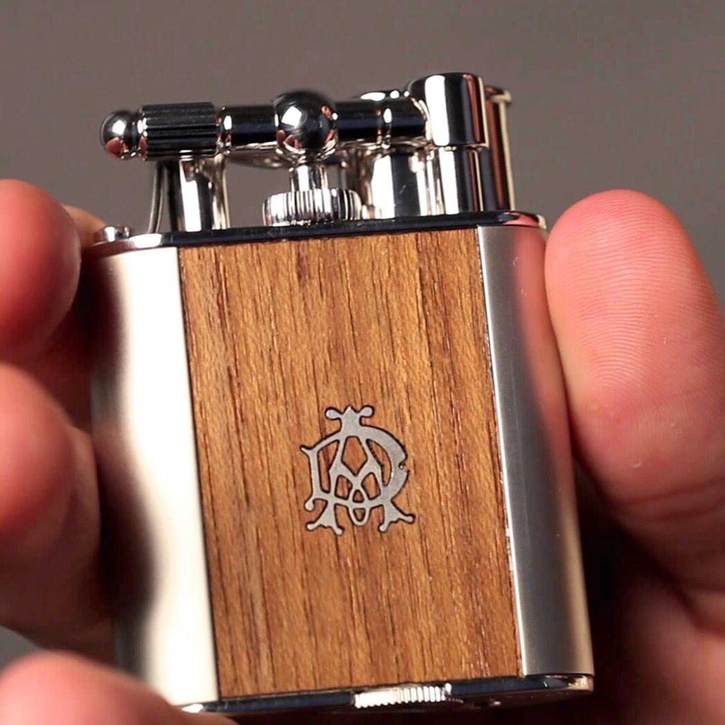 ALFRED DUNHILL TURBO TEAK WOOD LIGHTER   Wood light, Lighter, Flask