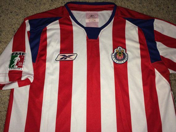 8fc87039752 Sale Vintage Reebok CHIVAS GUADALAJARA Soccer Jersey by casualisme ...